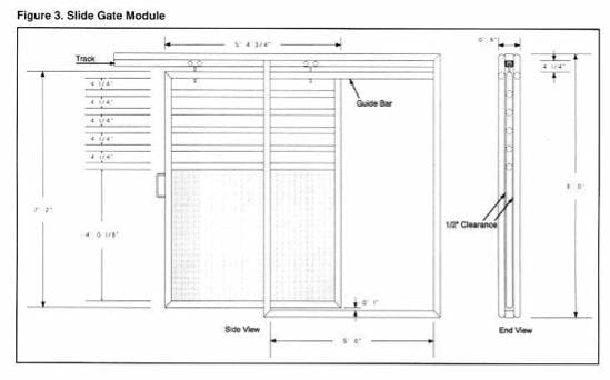Ground Level Elk Handling Facilities - Fig 3 Slide Gate Module
