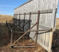 Very sturdy unit requiring a lot of steel pipe and labour