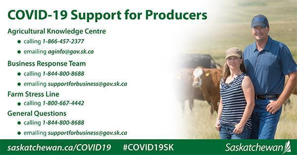 Covid-19 Support for agriculture producers