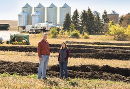 People standing in field
