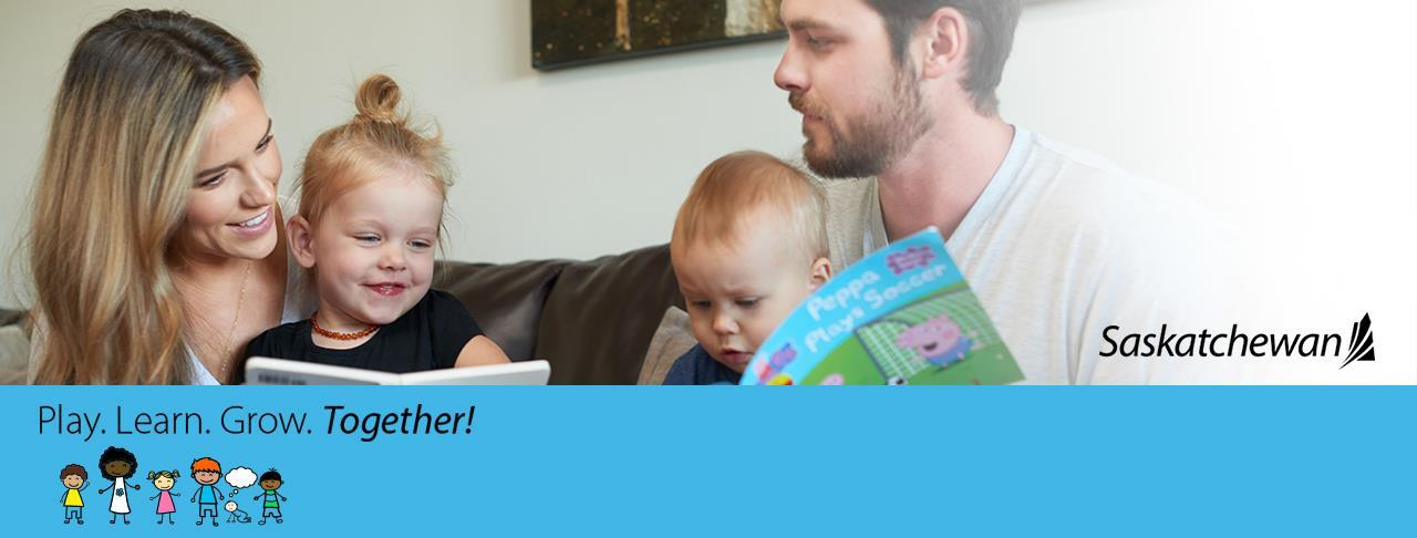 family reading books together