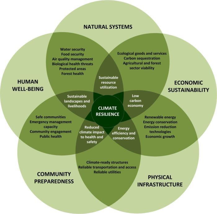 Climate resilience chart