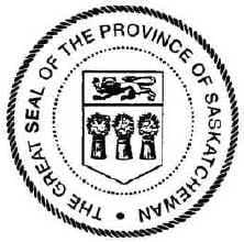 The First Great Seal of Saskatchewan