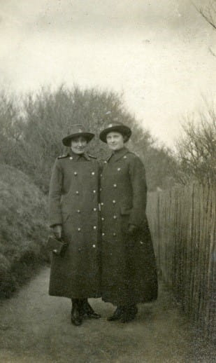 Gladys and a nursing colleague, in dress uniforms