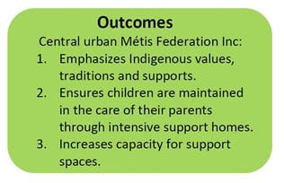 A box quote describing outcomes of the Ministry of Social Service's partnership with CUMFI.