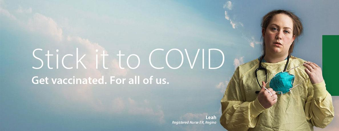 Stick it to COVID.  Get vaccinated.  Featuring Leah.