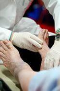 A foot exam