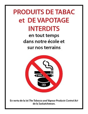 Tobacco-vapour-free-school-grounds-metal-sign-french
