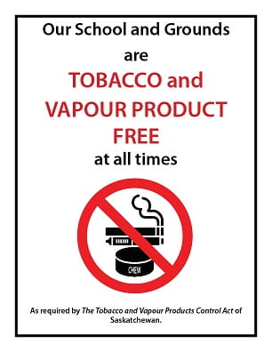 Tobacco-vapour-free-school-grounds-metal-sign