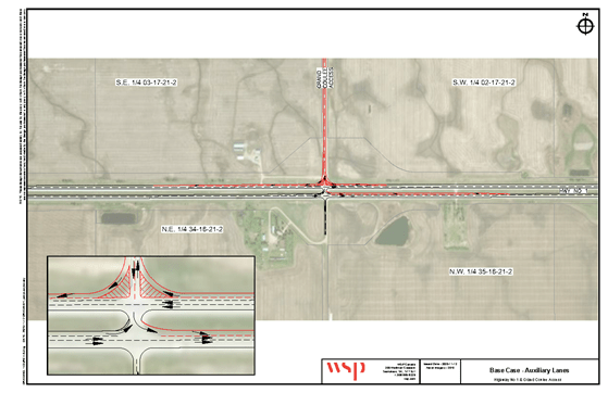 Base design of the Grand Coulee and Hwy 1 intersection