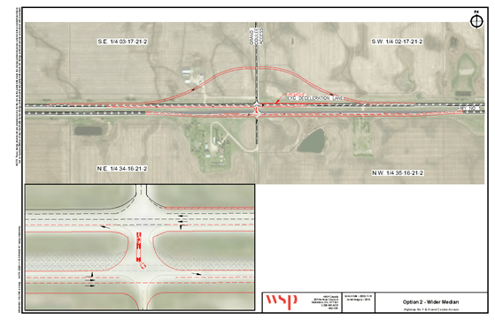 Option 2 for the Grand Coulee and Hwy 1 intersection
