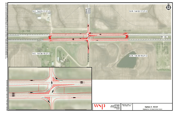 Option 3 for Grand Coulee and Hwy 1 intersection