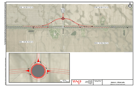 Option 4 for the Grand Coulee and Hwy 1 intersection