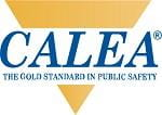 CALEA the gold standard in public safety words with a yellow triangle