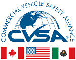 Canadian, American and Mexican flags with the words Commercial Vehicle Safety Alliance above it