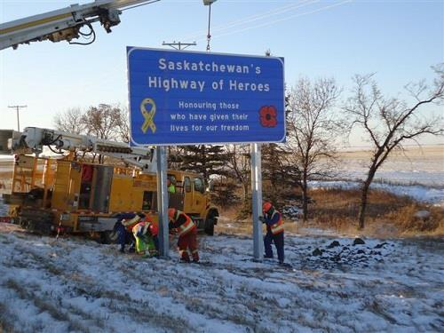 Highway of Heroes - Signage crew