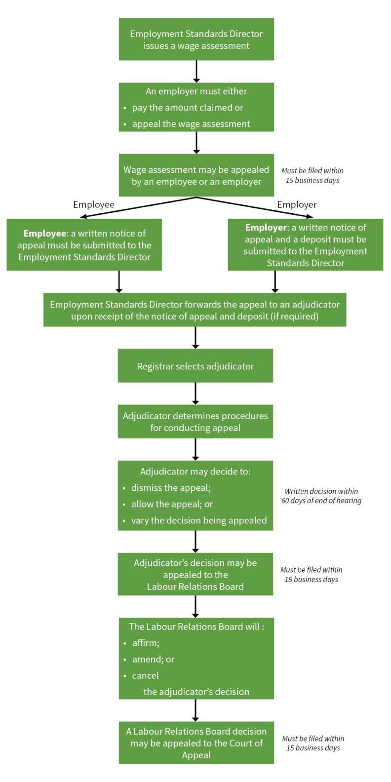 Employment Standards appeals process