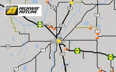 Saskatchewan Road Conditions Map Check Highway Road Conditions (Highway Hotline) | Saskatchewan  Saskatchewan Road Conditions Map