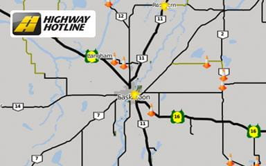 Check Highway Road Conditions (Highway Hotline) | Saskatchewan ...