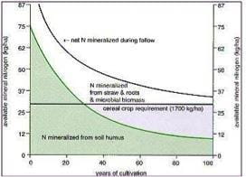 Model Showing Past, Present and Future Soil Nitrogen Trends