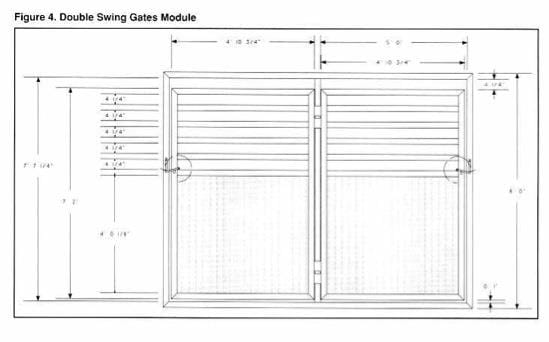 Ground Level Elk Handling Facilities - Fig 4 Double Swing Gates Module