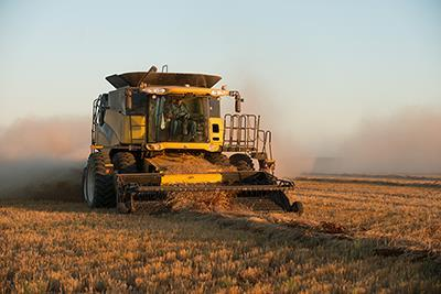 Agricultural equipment at work