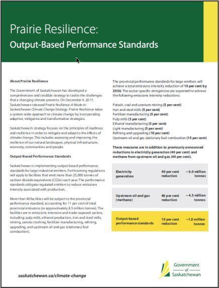 Output-Based Performance Standards