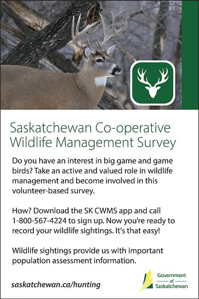 New Saskatchewan Co-Operative Wildlife Management Survey App Now Available Government  Saskatchewan Environment
